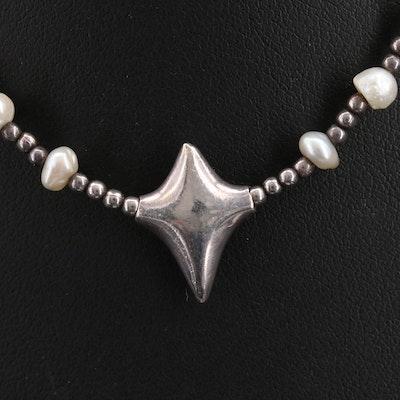 Robert Tateossian Sterling Pearl Necklace