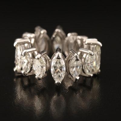 Platinum 6.76 CTW Marquise Diamond Eternity Band