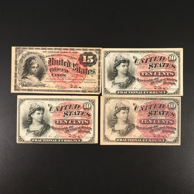 15-Cent and 10-Cent Fractional Currency Notes, Fourth Issue