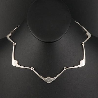 Hans Hansen Danish Modernist Sterling Necklace #316