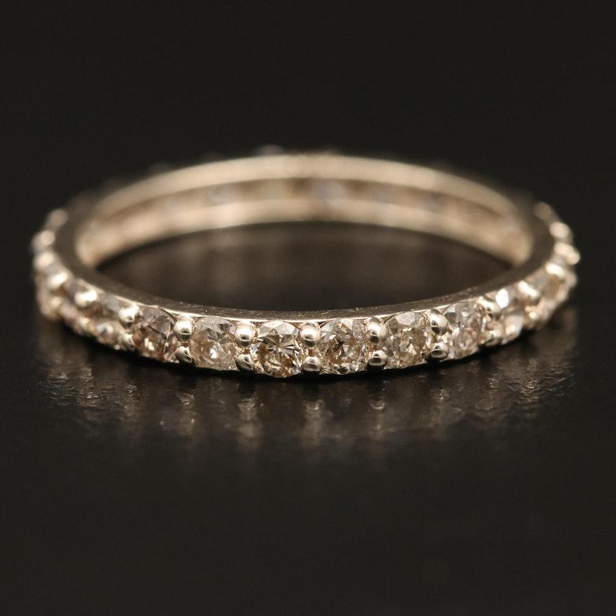 14K 1.30 CTW Diamond Eternity Band Ring