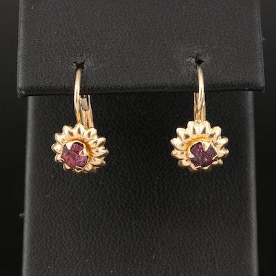 Italian 14K Flower Earrings