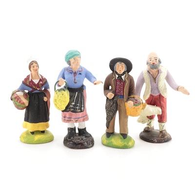 French Santons Terracotta Creche Figurines