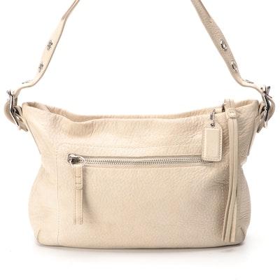 Coach F02188 East West Shoulder Bag in Pebbled Leather