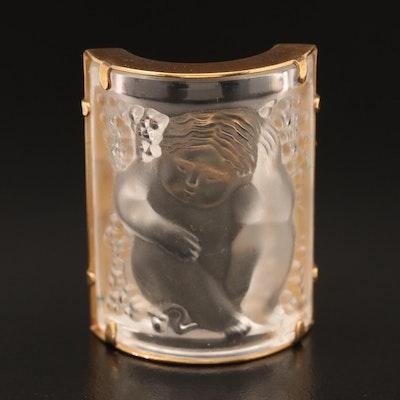 Lalique Crystal Brooch