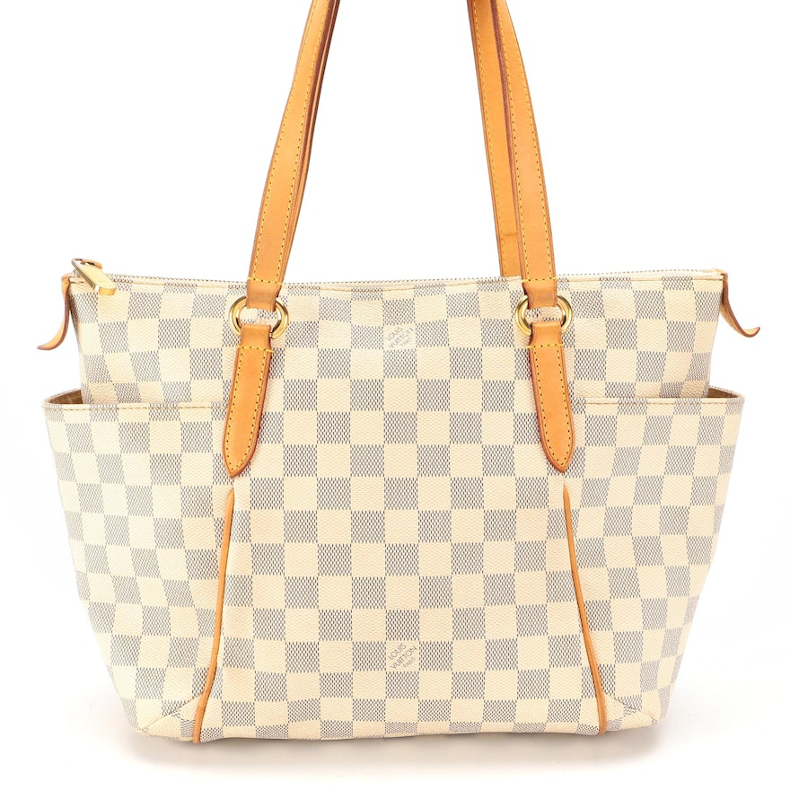 Louis Vuitton Totally PM Tote Bag in Damier Azur Canvas