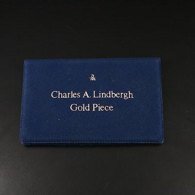 1977 Charles Lindbergh Commemorative 10K Gold Medal