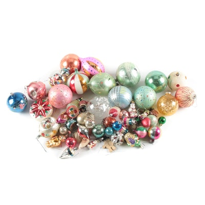 Shiny Brite, Lenox and Other Mid- Century Blown Glass Ornaments