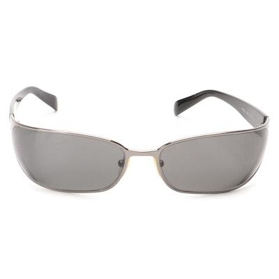 Prada Rectangular Wrap Sunglasses with Case