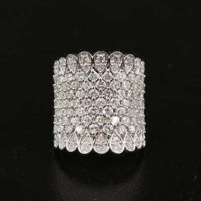 14K 2.96 CTW Diamond Saddle Ring