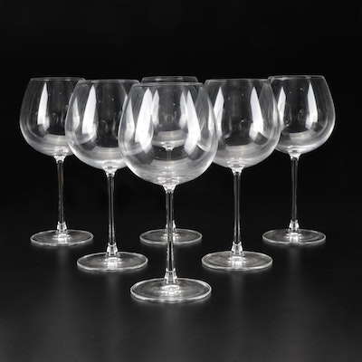 F&D Crystal Wine Glasses, Contemporary