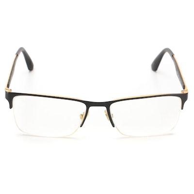 Ray-Ban RB6335 Semi-Rimless Prescription Eyeglasses with Case