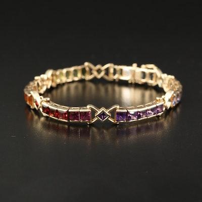 "14K Multi-Gemstone ""Rainbow"" Bracelet"
