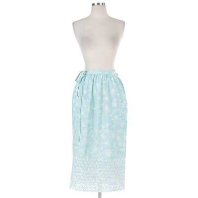 Eyelet Wrap Skirt Fashioned from Lilly Pulitzer Fabric
