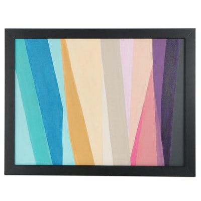"Sanna Abstract Acrylic Painting ""Angles,"" 2020"