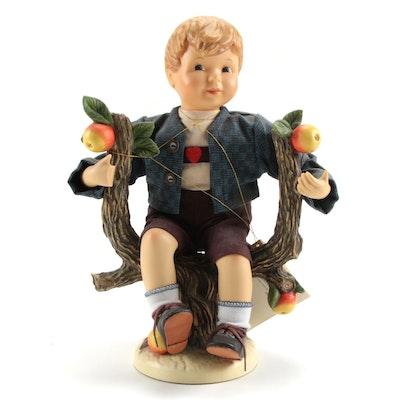 "Goebel ""Apple Tree Boy"" Costumed Porcelain Hummel Figurine"