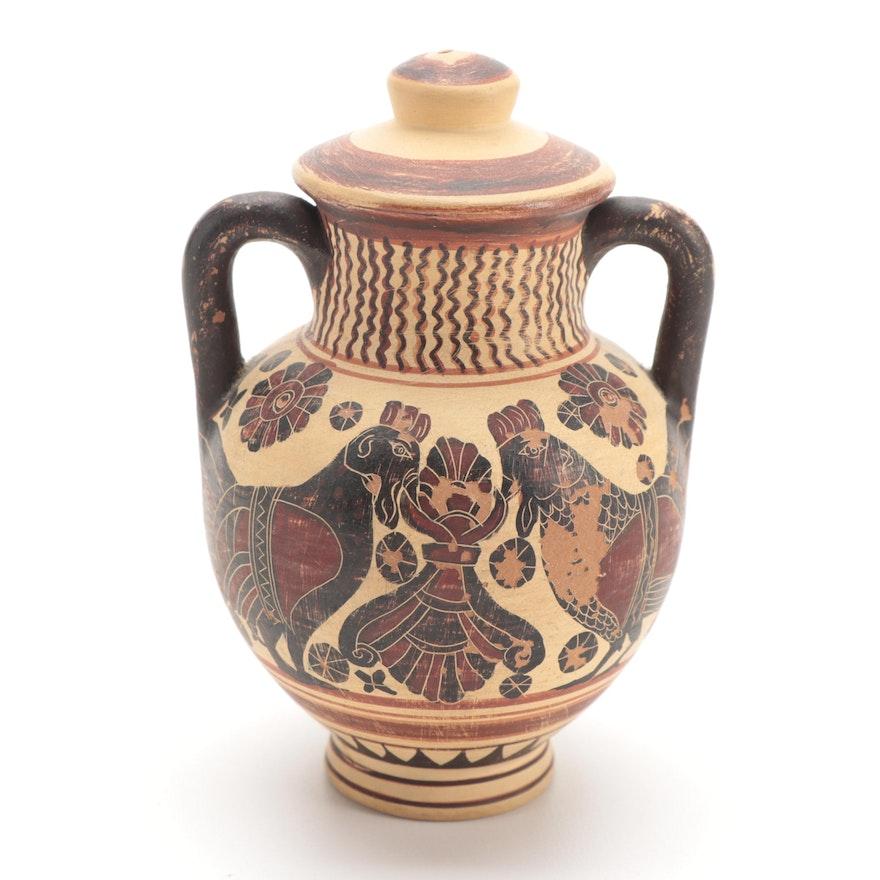 Museum Reproduction Ancient Greek Corinthian Amphora