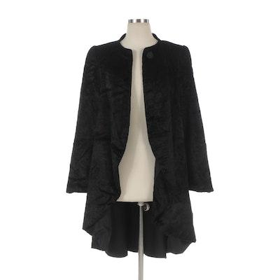 Carolina Herrera Black Cutaway Evening Jacket