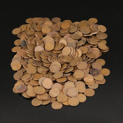 Large Collection of Assorted Date Lincoln Wheat Cents, 1920s-1950s