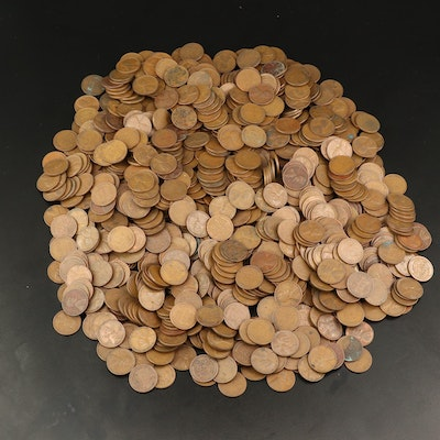 Approximately 960 Lincoln Wheat Cents