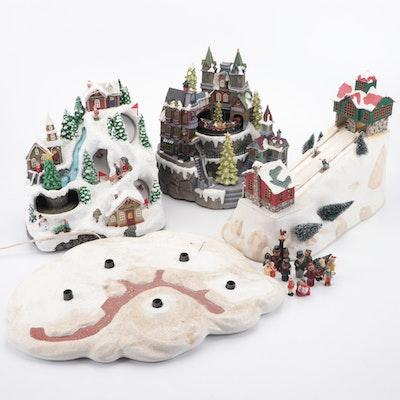 Mr. Christmas Ski Slope and Christmas Village Set