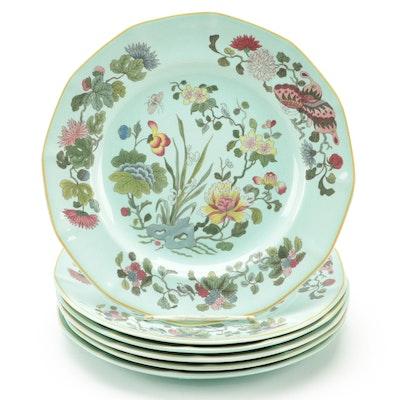 "Adams ""Ming Jade"" Calyx Ware Ironstone Dinner Plates, 1974–1986"