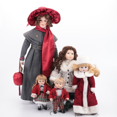 Seymour Mann Holiday Themed Doll Collection