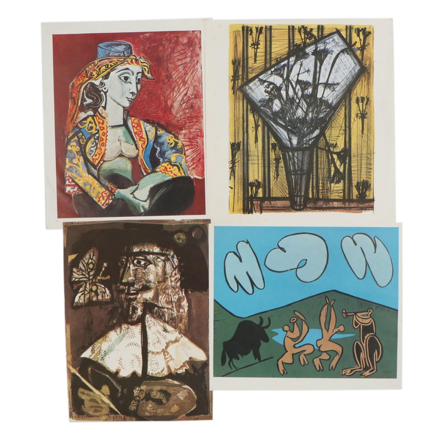Offset Lithographs After Pablo Picasso, Bernard Buffet and Antoni Clavé