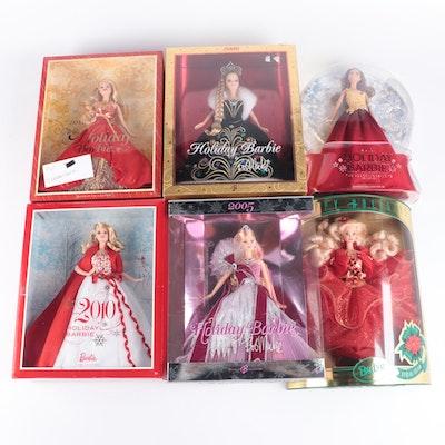 Holiday Barbie Dolls in Original Packaging, 2005-2016