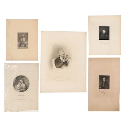Intaglio Portraits and More Including Stipple Engraving After Henry Edridge