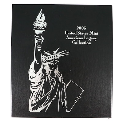 """""""2005 United States Mint American Legacy Collection"""" Proof Coin Set"""