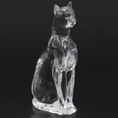"Baccarat ""Egyptian"" Cat Crystal Figurine"