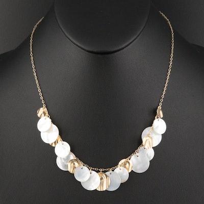 14K Shell Fringe Necklace