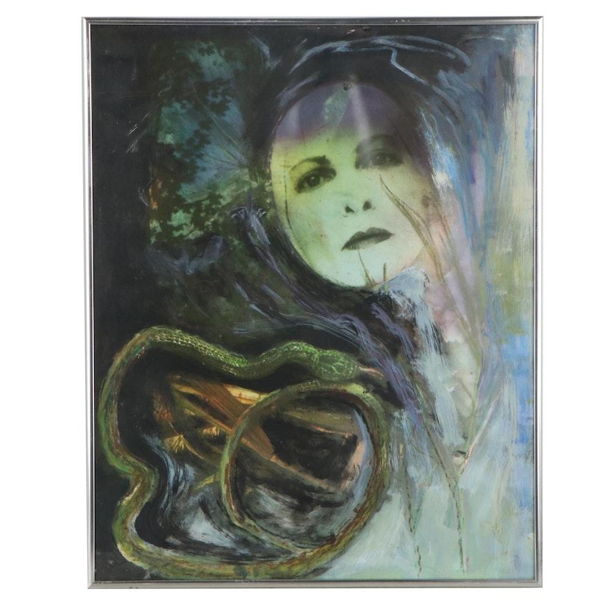 Barbara Hershey Embellished Portrait Photograph