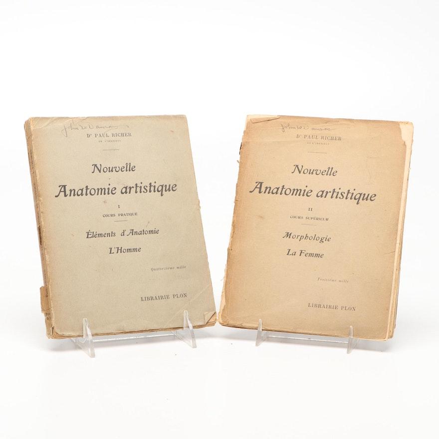 """Nouvelle Anatomie artistique"" Vol. I and II by Dr. Paul Richer, 1920"
