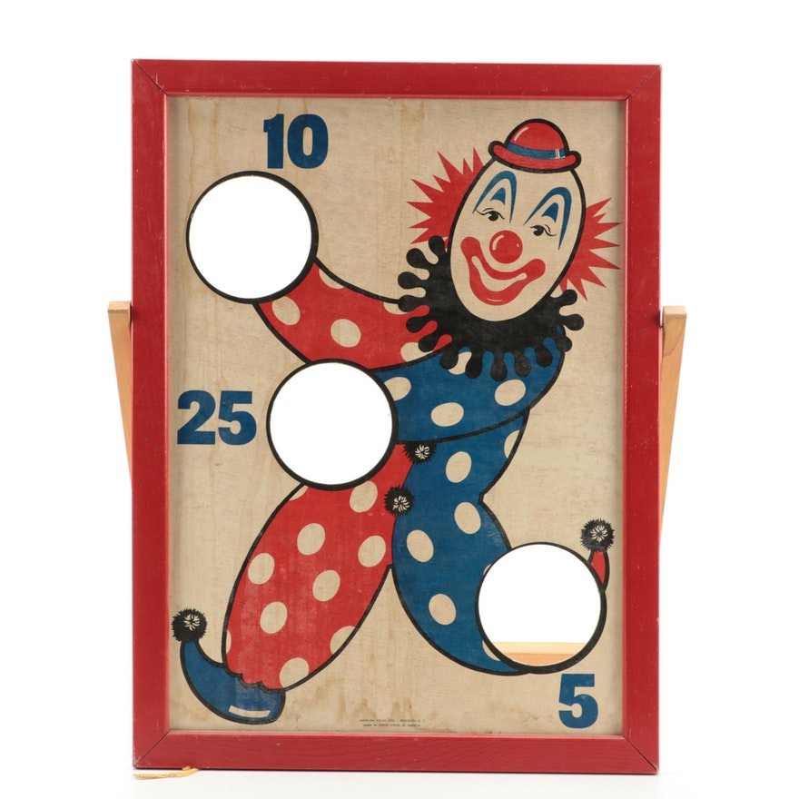 American Visual Aids Clown Bean Bag Toss Board