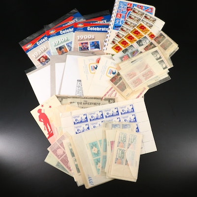 Grouping of U.S. Mint Condition Postage Stamp Sets and Blocks