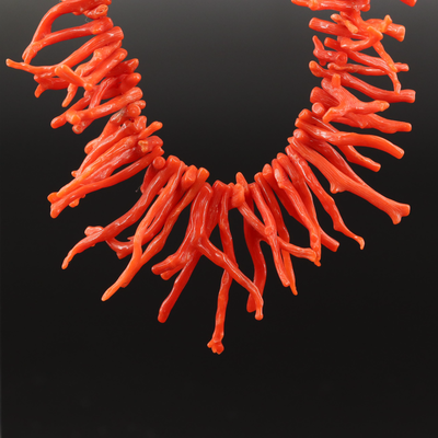 Branch Coral Graduated Necklace