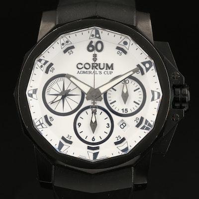 """Corum """"Admirals Cup Black Challenge 44"""" Chronograph Stainless Steel Wristwatch"""