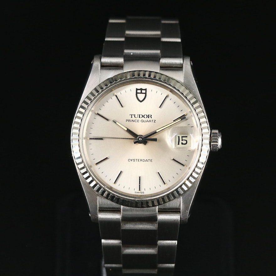1985 Tudor-Prince - Quartz Oysterdate Stainless Steel and 18K Gold Wristwatch