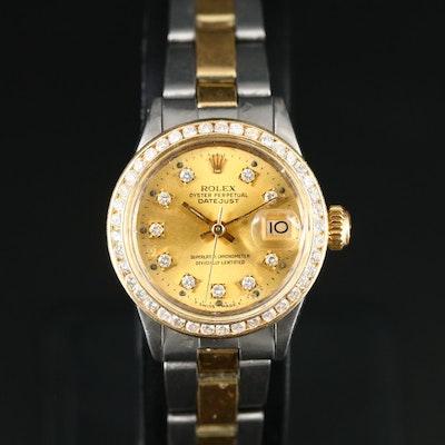 1969 Rolex Datejust Diamond Dial and Bezel Wristwatch