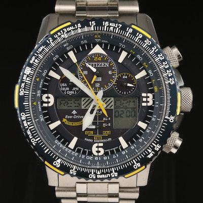 "Citizen ""Blue Angels Skyhawk Promaster"" Eco-Drive Wristwatch"