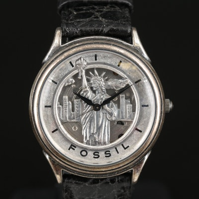 Fossil Limited Edition Statue of Liberty Wristwatch with Mini Statue