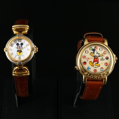 Mickey Mouse Musical Lorus and Time Work Wristwatches