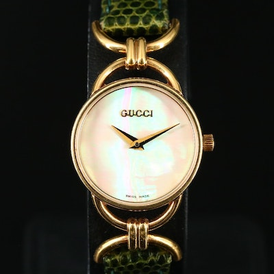 Mother of Pearl Dial Gucci Wristwatch