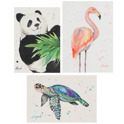 Anne Gorywine Watercolor Paintings of Animals, 21st Century