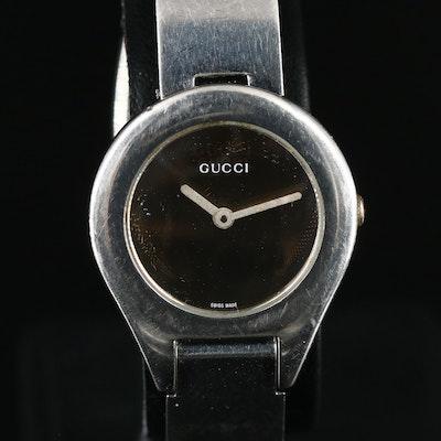 Gucci Mirrored Dial Stainless Steel Quartz Wristwatch