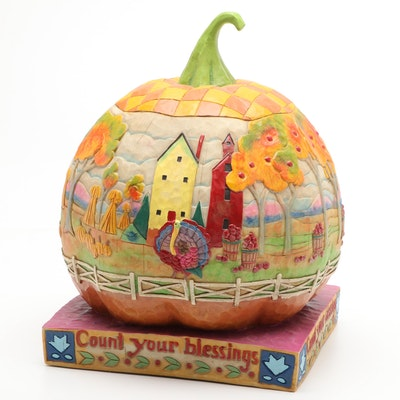 "Jim Shore, ""Count Your Blessings"" Pumpkin Figurine"