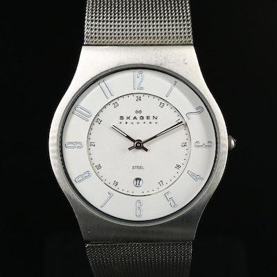Skagen Denmark Steel with Date Wristwatch
