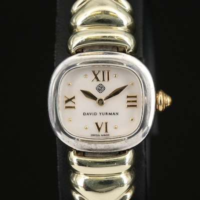 David Yurman 14K and Sterling Silver Wristwatch with Mother of Pearl Dial